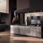 Küche Vulkaneiche und Industriestahl